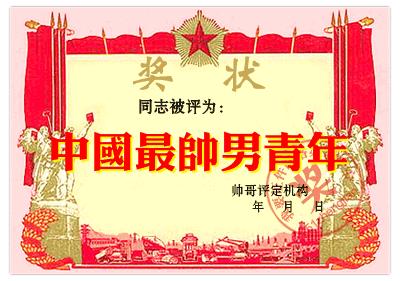 中国最帅男青年-搞笑证件图片